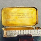 Silberdose innen vergoldet